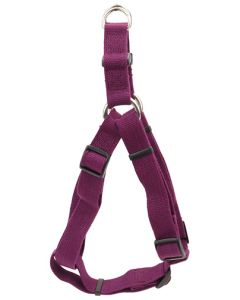 New Earth Soy Comfort Wrap Adjustable Dog Harness Eggplant Dog 1X1PC 3/4x20-30in