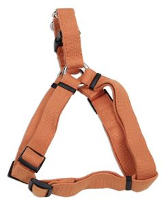 New Earth Soy Comfort Wrap Adjustable Dog Harness Pumpkin Dog 1X1PC 3/4x20-30in