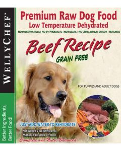 Welly Chef Grain Free Dehydrated Beef Dog 1X0.907KG