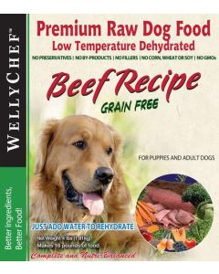 Welly Chef Grain Free Dehydrated Beef Dog 1X1.81KG