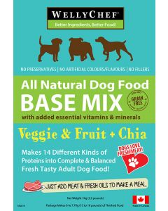 Welly Chef Veggie Fruit plus Chia Food Mix 14 Diff Proteins Dog 1X1KG