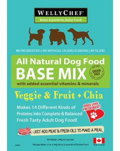 Welly Chef Veggie Fruit plus Chia Food Mix 14 Diff Proteins Dog 1X2KG