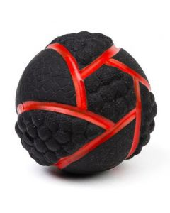 Bud-Z Latex Futuristic Soccer Ball Squeaker Red Dog 1X1PC 3IN