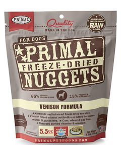 Primal Freeze Dried Venison Dog 1X5.5OZ