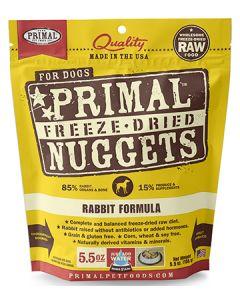 Primal Freeze Dried Rabbit Dog 1X5.5OZ