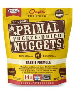 Primal Freeze Dried Rabbit Dog 1X14OZ