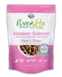 Pure Vita Freeze Dried Alaskan Salmon Cat 1X1.1OZ