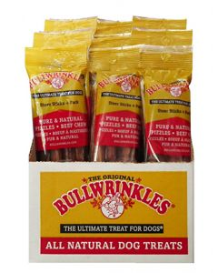 Bullwrinkle Steer Sticks Dog 1X25X4PK 5in