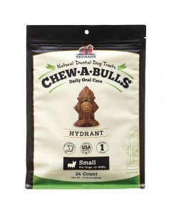 Red Barn Chew A Bulls Hydrant Small 24ct Dog 1X10PK