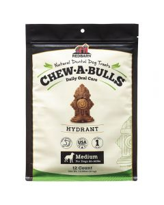Red Barn Chew A Bulls Hydrant Mediumium 12ct Dog 1X10PK