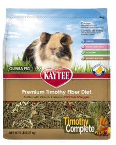 Kaytee Timothy Complete Plus Fruit Veggie Guinea Pig Small Animal 1X5LB