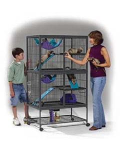 MID-WEST HOMES Ferret Nation No Tools Double Unit w Stand Small Animal 1X1PC