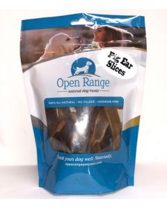 Open Range Pig Ear Slices Dog 1X125G