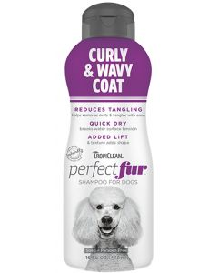 TropiClean Perfect Fur Curly and Wavy Coat Shampoo Dog 1X16OZ