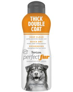 TropiClean Perfect Fur Thick Double Coat Shampoo Dog 1X16OZ