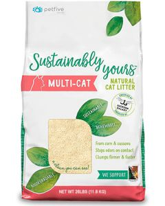 Sustainably Yours Natural Biodegradable MultiCat Large Grains Cat 1X26LB