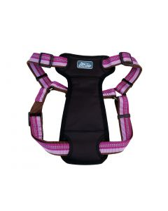 K9 Explorer Reflective Adjustable Padded Harness Orchid Dog 1X1PC 1x26-38in