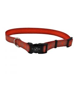 Lazer Brite Rflctv Open Design Adj Collar Orange Aztec Dog 1X1PC 3/8x8-12in