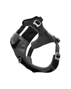 Kurgo Journey Air Harness Black Gargoyle Grey Medium Dog 1X1PC 25-50lb