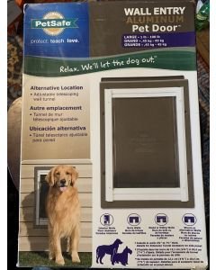 PETSAFE Premium Wall Entry Aluminum Pet Door Large Dog 1X1PC