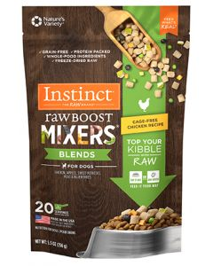 NATURE'S VARIETY Instinct Raw Boost Mixers Cage Free Chicken Blends Dog 1X5.5OZ