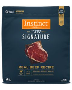 NATURE'S VARIETY Raw Signature Real Beef Bites Dog 1X4LB