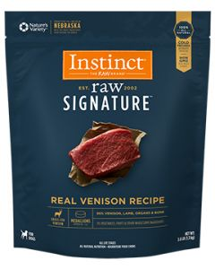 NATURE'S VARIETY Raw Signature Real Venison Medallions Dog 1X3LB