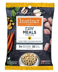 NATURE'S VARIETY Instinct Raw Freeze Dried Meals Real Chicken Dog 1X2OZ