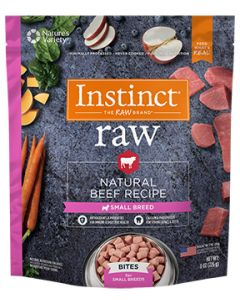 NATURE'S VARIETY Natural Beef Small Breed Bites Dog 1X8OZ