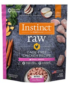 NATURE'S VARIETY Cage Free Chicken Small Breed Bites Dog 1X8OZ