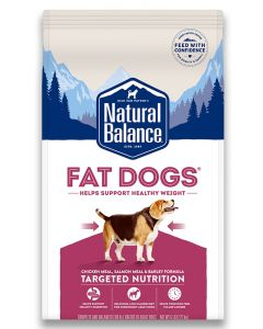 Natural Balance Fat Dogs Chicken and Salmon Formula Low Calorie Dog 1X5LB