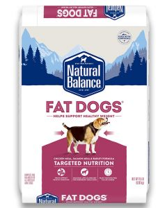 Natural Balance Fat Dogs Chicken and Salmon Formula Low Calorie Dog 1X15LB