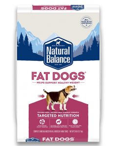 Natural Balance Fat Dogs Chicken and Salmon Formula Low Calorie Dog 1X28LB