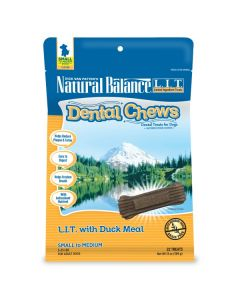 Natural Balance Dental Chews LIT with Duck Meal Small Dog 1X13OZ