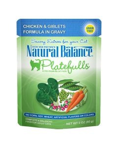 Natural Balance Platefulls Chicken and Giblets in Gravy Cat 1X24X3OZ