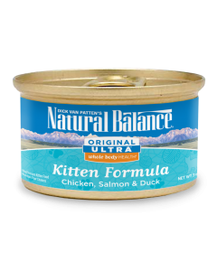 Natural Balance Original Ultra WBH Chicken Salmon and Duck Kitten Cat 1X24X3OZ