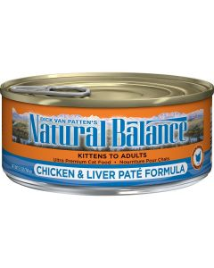 Natural Balance Chicken and Liver Pate Cat 1X24X5.5OZ