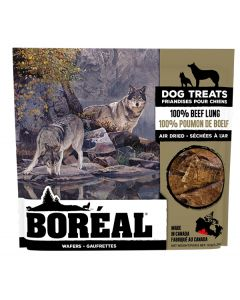 Boreal Dog Treats 100 Percent Beef Lung Wafers Dog 1X6X92G