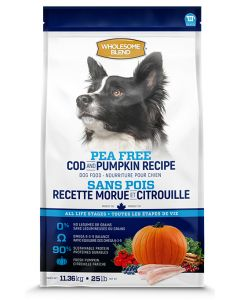 Wholesome Blend All Life Stages Pea Free Cod and Pumpkin  Dog 1X11.36KG
