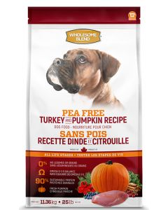 Wholesome Blend All Life Stages Pea Free Turkey and Pumpkin  Dog 1X11.36KG