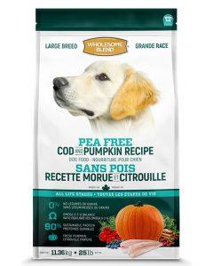 Wholesome Blend All Life Stages Pea Free Cod Pumpkin Large Breed Dog 1X11.36KG