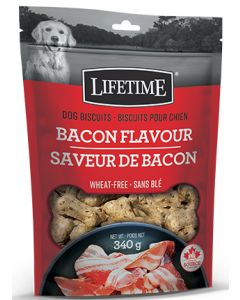 Lifetime All Life Stages Bacon Flavour Dog Biscuit Dog 1X340G