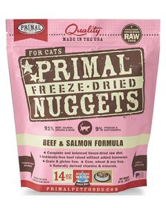 Primal Freeze Dried Beef and Salmon Cat 1X14OZ
