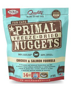 Primal Freeze Dried Chicken and Salmon Cat 1X14OZ