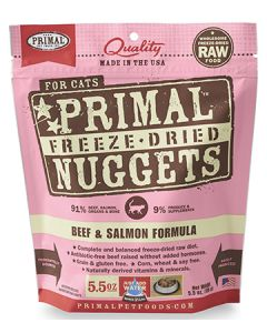 Primal Freeze Dried Beef and Salmon Cat 1X5.5OZ