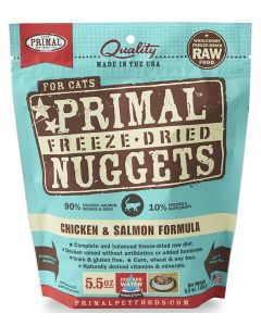 Primal Freeze Dried Chicken and Salmon Cat 1X5.5OZ