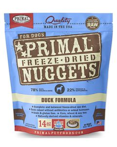 Primal Freeze Dried Duck Dog 1X14OZ