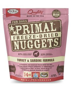 Primal Freeze Dried Turkey and Sardine Dog 1X14OZ
