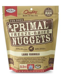 Primal Freeze Dried Lamb Dog 1X5.5OZ