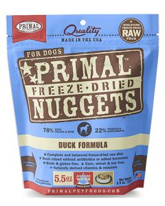 Primal Freeze Dried Duck Dog 1X5.5OZ